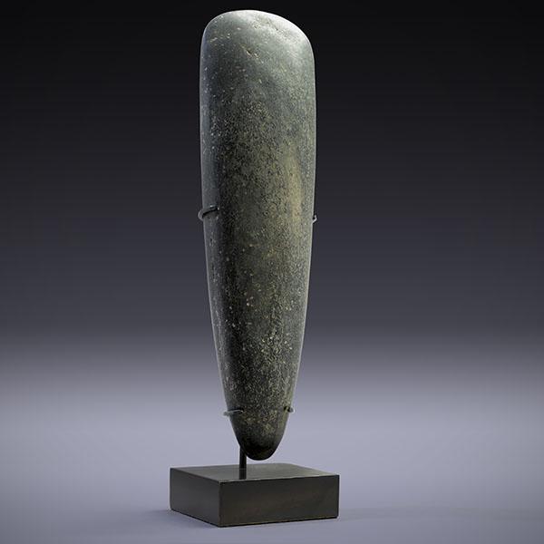 A Ceremonial Stone Adze Blade 5 (Dark Grey/Black)