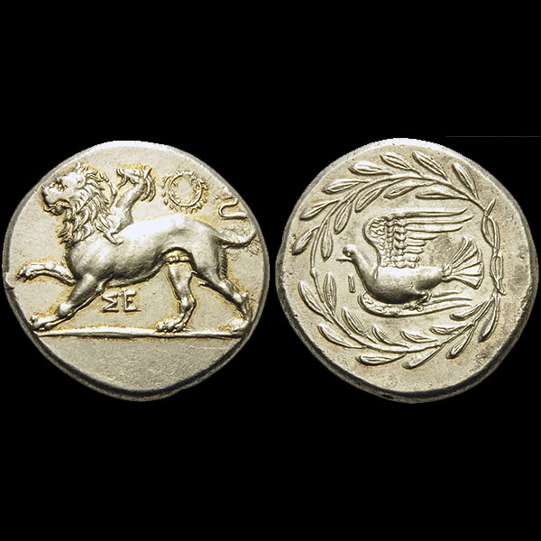 An Ancient GreekA  Silver Chimaera Coin, Stater from Sikyon, Sikyonia