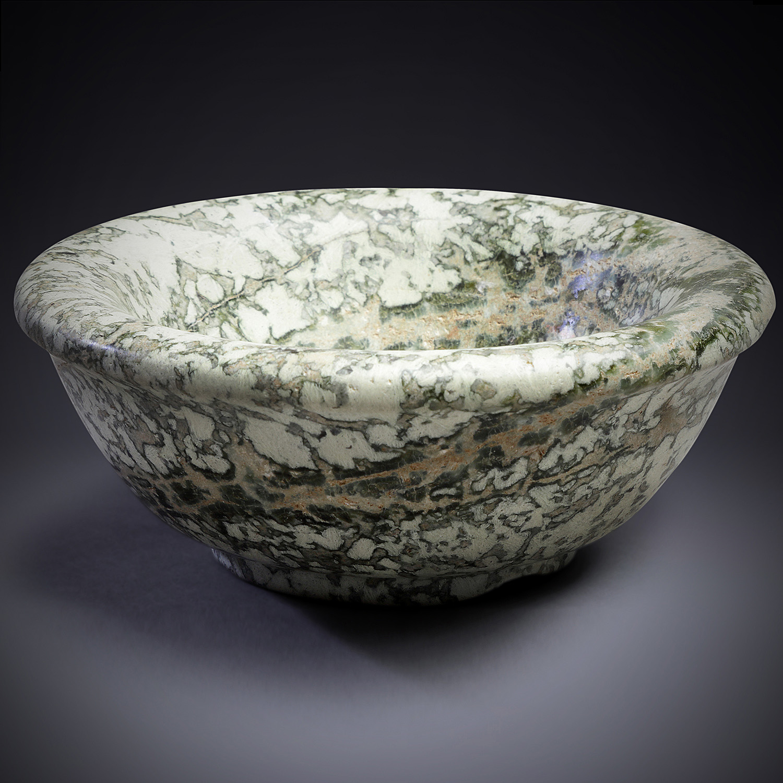 A Green Mesopotamian Steatite Bowl