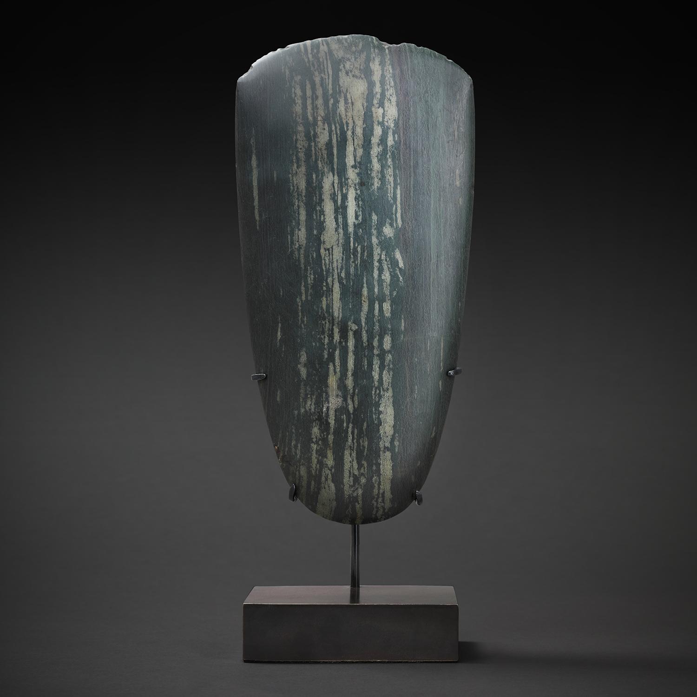 Ceremonial Stone Adze Blade 10 (Dark Green)