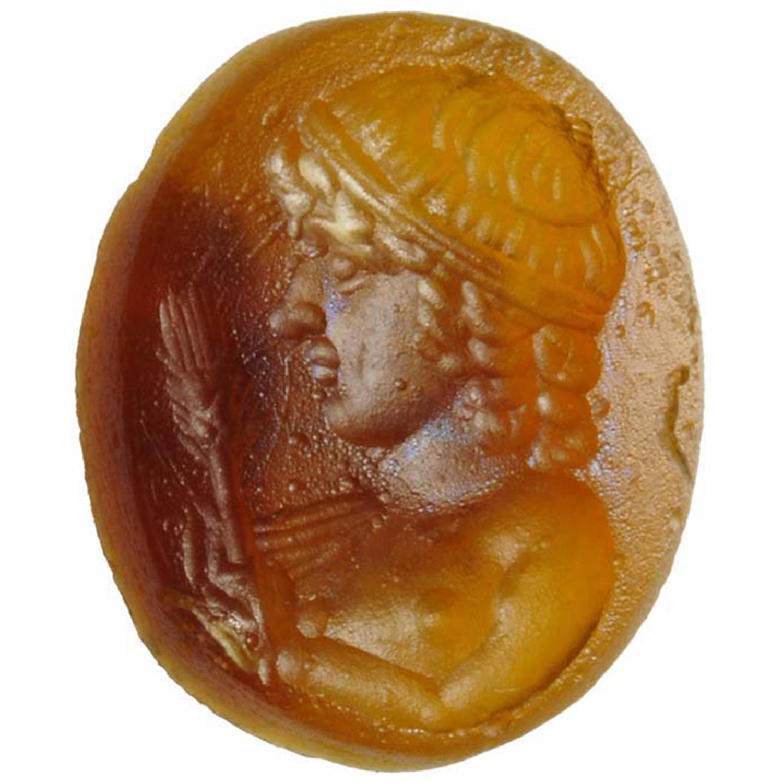 Roman Orange Glass Paste – Votive Ephebe