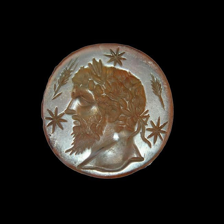 Roman Carnelian Intaglio with Jupiter